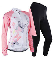 Autumn Women's Cycling Bicycle Clothing Long Sleeve Jersey Pants Wear Set S-XL