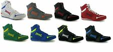 Lonsdale Mid-Cut Leather Mens Boxing Boots Shoes Fight Training Boxed CLEARANCE
