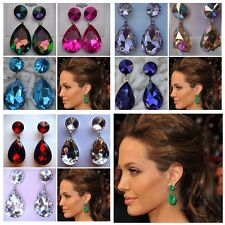 Boxed Earrings Celebrity Inspired Angelina Jolie Red Carpet Look Long pageant
