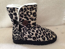 UGG Boots 1 Button Synthetic Wool Colour Black Leopard On Special  Multi Size