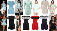 New Womens Ladies Celebrity Style Floral Lace Mesh Chiffon Party Wear Playsuits