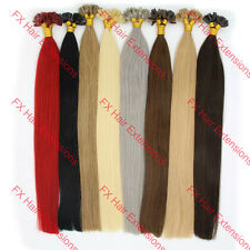 "New20""100s Fusion U/Nail Keratin Tip Remy Human Hair Extensions Multiple Colors"