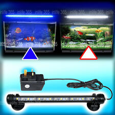 Aquarium Fish Tank Submersible LED Light Bar Lighting Lamp White Blue Color GY
