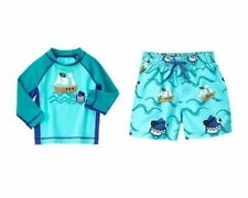 NWT Gymboree Pirate Shark Ship Rash Guard OR Pirate Shark Ship Swim Trunks NEW