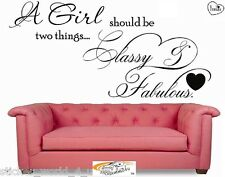 W020 CLASSY AND FABULOUS COCO CHANEL WALL ART STICKER WALLART QUOTE MURAL
