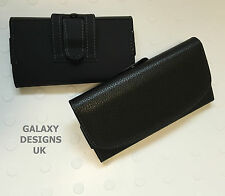 Quality leather clip belt loop pouch holster black case cover various models