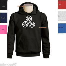 Triple Spiral Sweatshirt Triskele Celtic  Hoodie SIZES S-3XL