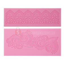 New Silicone Impressing Mold Mat Fondant Cake Sugar Lace Flower Craft Decorating
