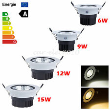 Dimmable 6W/9W/12W/15W COB CREE LED Ceiling Downlight Lamp Spot Light+Driver kit