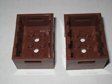 Lego (2x) Container Crate w/ Handholds  (Reddish Brown or Med. Dark Flesh) 30150
