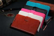 Deluxe PU Leather Magnetic Strap Flip ID Card Waterproof Stand Lot Case Cover