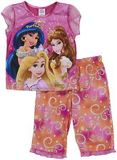 Disney PRINCESS Girls/Sleepwear PAJAMA size 4,6,8 PJ RAPUNZEL JASMIN BELLE
