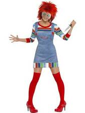 LADIES CHUCKY COSTUME FANCY DRESS CHILD'S PLAY MOVIE SCARY DOLL HALLOWEEN OUTFIT