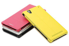 Original ROCK Sony Xperia T2 Ultra XM50H Leather Flip Case Cover Stand