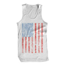Distressed America Flag Glory Patriot Murica EEUU Stripes Swag USA Mens Tank Top