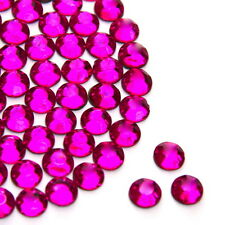 Beautiful Sparkly Hot Pink Flat Back Loose Rhinestones Gems