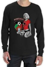 Marilyn Monroe PORTUGAL SOCCER Long Sleeve T-Shirt Futebol Team WORLD CUP 2014