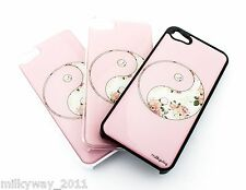 #363 for IPHONE 5 5S Plastic Cover Case FLORAL YIN YANG balance good evil flower