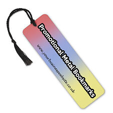 Personalised Company Logo Business Image/ Text On Aluminium Metal Bookmark