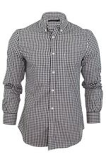 Mens French Connection FCUK Shirt Staffordshire Rifle Gingham Check Long Sleeved