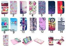 Fashion Flip Printed Wallet PU Leather Stand Case Cover For Lot Phone *14 Color