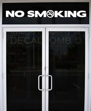 NO SMOKING w/ logo vinyl decal sticker sign bar grill store shop food vendor rzr