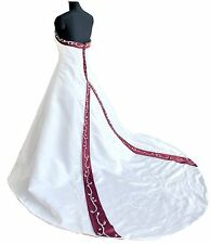 FairOnly Custom Made Satin Strapless Wedding Dresses Bridal Gown Plus Size