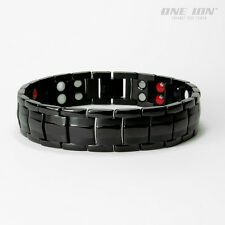 BLACK FORCE Power Ion Balance Magnetic Bracelet Wristband Band 4 IN ONE