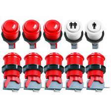 8 PCS Red HAPP Style Push Button + 2 PCS Start Push Button For Arcade MAME JAMMA