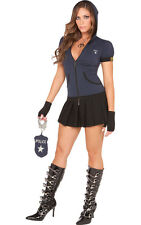 ADULT WOMENS SEXY COP POLICE OFFICER UNIFORM FANCY DRESS HALLOWEEN COSTUME