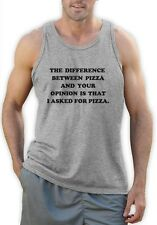 I Asked For Pizza Singlet PIZZA Tumbler Fashion Dope Swag quote Unicorn Vest