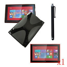 Soft Jelly Case Cover+1x Protector+Stylus For Nokia Lumia 2520 10.1 Inch Tablet