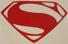 "Superman Man of Steel ""S"" Chest Logo vinyl sticker decal choose color"