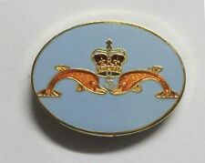 ROYAL NAVY SUBMARINER DOLPHINS LAPEL PIN AND WALKING STICK MOUNT