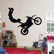 STUNT BIKE Decal WALL STICKER Home Decor Art Dirt Motor Cross Xtreme ST58
