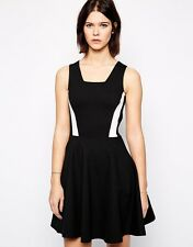 FRENCH CONNECTION BLACK OR GREY SKATER DRESS SIZE 8 - 16 NEW £75 FLARE LUCY
