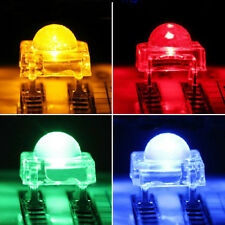 10pcs Red Blue Green Yellow F5 Piranha LED 5mm Light Emitting Diode Round Head