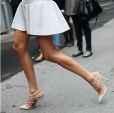 New Summer 2014 Pointed Toe Shoes Rivets Patent Leather High Heels Platform Pump