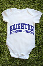 Brighton since day one Baby Grow Vest Football Hove Albion gift cute Babies L689