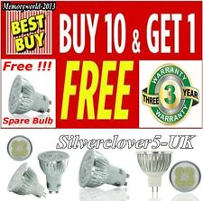 4 10X 9/12/15W LED Spot light Bulbs High Power GU10/MR16 Day/Warm White UK STOCK