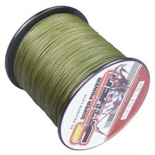 New!100M-1000M Army Green 6LB-300LB Super Strong Dyneema Braid Sea Fishing Line