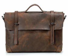 Men Geniune Leather Briefcase Business Case Shoulder Laptop Messenger Bag New