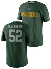 NIKE NFL GREEN BAY PACKERS CLAY MATTHEWS Mens Name & Number Green Jersey T-Shirt