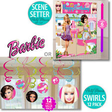 BARBIE GIRLS BIRTHDAY PARTY SUPPLIES SCENE SETTER OR SWIRL DECORATIONS