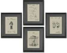 Patent Quad - Scuba Diving  - Scuba Diver Large Office Wall Print Art QDIVE
