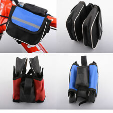 Bike Bicycle Cycling Mountain Frame Front Tube Pannier Saddle Bag Tube Pouch UK