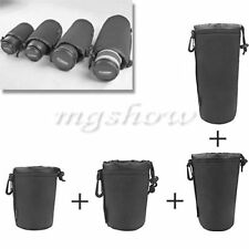 4 Sizes Neoprene DSLR Camera Lens Soft Protector Carry Pouch Bag Case S M L XL