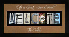 Personalized Art - Welcome Home Family Housewarming House Wall Art Gift LWELCOM