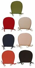 Round Kitchen Dining Chair Seat Pads Outdoor Garden Furniture Tie On Cushions