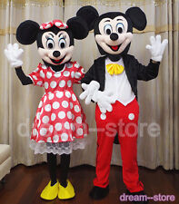 【SALE】 MICKEY and MINNIE MOUSE MASCOT COSTUME ADULT L SIZE KID'S SIZE UK